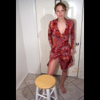 Melissa Sexy In Red Dress