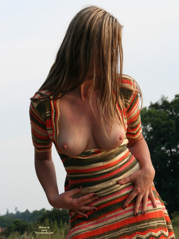 Wife Flashing Her Huge Tits Out Of Stripped Dress - Blonde Hair, Brown Hair, Brunette Hair, Flashing, Huge Tits, Large Aerolas, Long Hair , Pink Nipples, Brown Red And Cream Multi Stripe Crocheted Dress, Long Brunette Hair, Multi-color Stripped Knit Dress, Knit Dress With Half-sleeves, Hands On Waistline, Hair Covering Face, Brown Fingernail Polish, Blonde In Stripped Dress