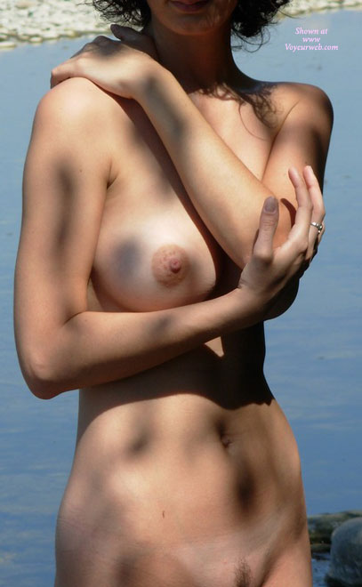 Pic #1 - Nude Girl Hand On Shoulder - Big Tits, Trimmed Pussy, Naked Girl, Nude Amateur , Large Round Breast, Perfect Nipple, Standing Frontal View, Water In Background, Tits Outdoors, Nude Outdoors, Nude Girl In The Shade, Nice Airstrip Trim