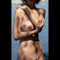 Nude Girl Hand On Shoulder - Big Tits, Trimmed Pussy, Naked Girl, Nude Amateur