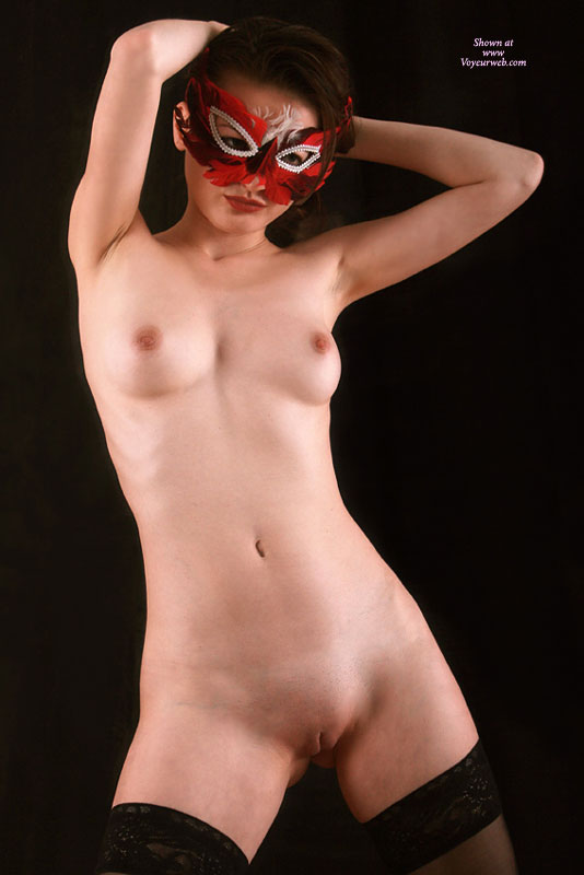 Pic #1 - Shaved Asian Girl In Red Feather Mask Standing - Shaved Pussy, Small Tits, Stockings, Naked Girl, Nude Amateur , Shaved Masked Ladie, Nude Masked Asian Girl, Full Frontal Nude, Twat Shot, Masked Nude, Black Background, Hands Behind Head, Masked Asian With Stockings Only, Nude Carnival, Mask On, Woman In Mask, Nude Masquerade, Masked Asian With Black Stockings