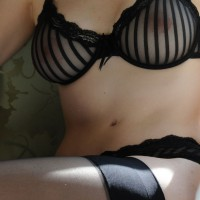 Black Seethrough Bra - See Through, Stockings