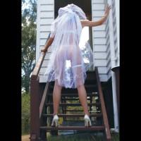 White See Through Wedding Dress - Heels, See Through