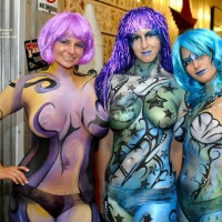 Fantasy Fest Body Painting - Nude Amateur