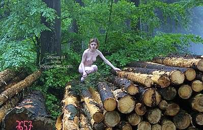 Pic #3 - Csilla In The Romanian Wood 2