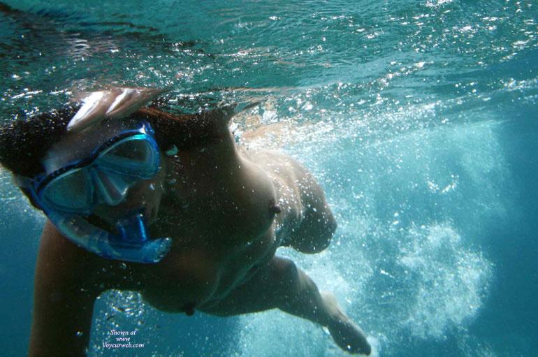 nude underwater, snorkel, underwater boobs view, swimming nude, ...