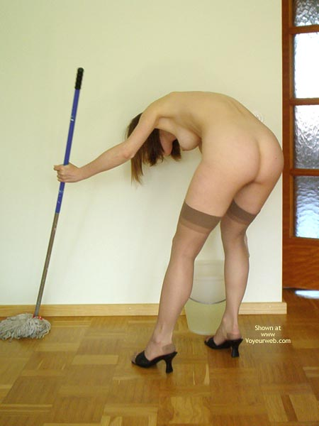 Pic #3 - Swedish Beauty Doing Her Chores
