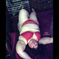 Bbw Gidget In Red On The Bed