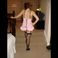 Anne In Pink And Stockings
