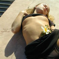 Girl Lying On Her Back
