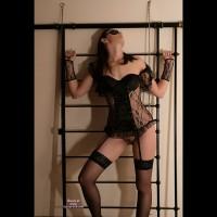 Submissive Theme - Black Hair, Brown Hair, Dark Hair, Long Hair, Stockings, Trimmed Pussy