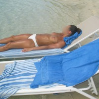 Trophy Wife Sunbathing Again!