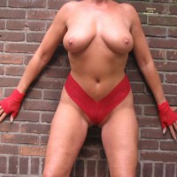 Naked Outside In A Little Red