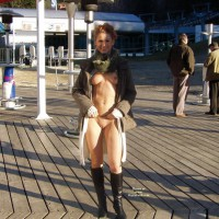 Flashing Tits And Pussy In Public - Flashing, Nude In Public, Red Hair, Naked Girl, Nude Amateur