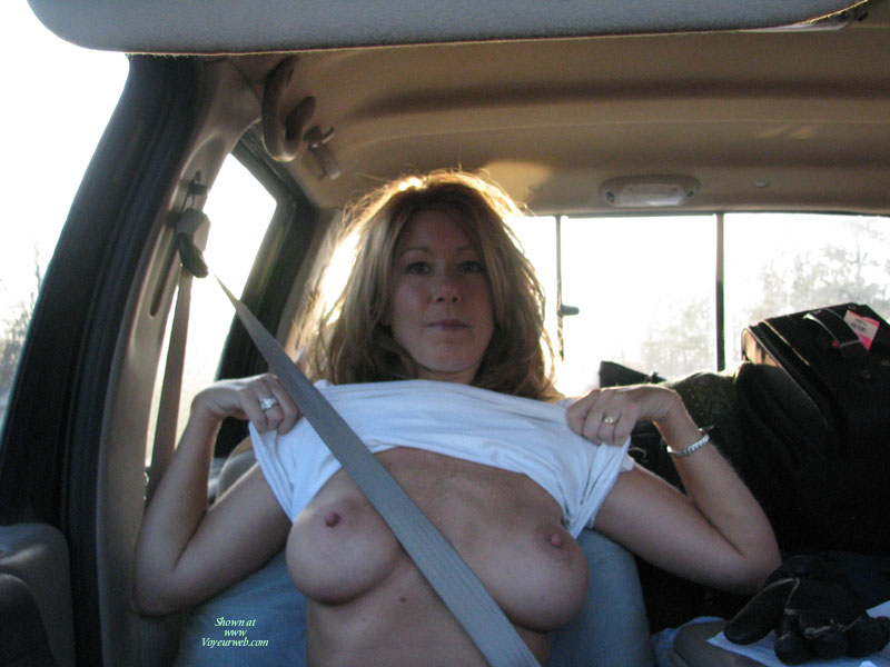 Pic #1 - Naughtybuny In The Truck , Out For A Drive