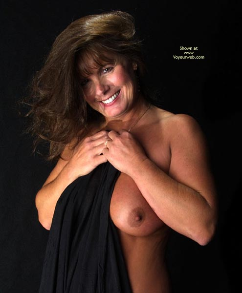 Pic #1 - Smiling Into Camera - Milf, Smile, Looking At The Camera, Smiling Into Camera, Very Huge Tits, Mature Brunette, Mature Breasts, Milf, Dark Nipple Smile, Mature Topless, Nude Milf Tanned Tits