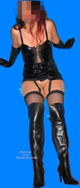 Pic #4 - My Wife Dressed In Pvc
