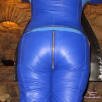 Blue Leather Catsuit