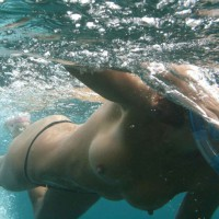 Underwater Photo Of Naked Girl Swimming - Erect Nipples, Natural Tits, Perfect Tits, Topless, Small Areolas