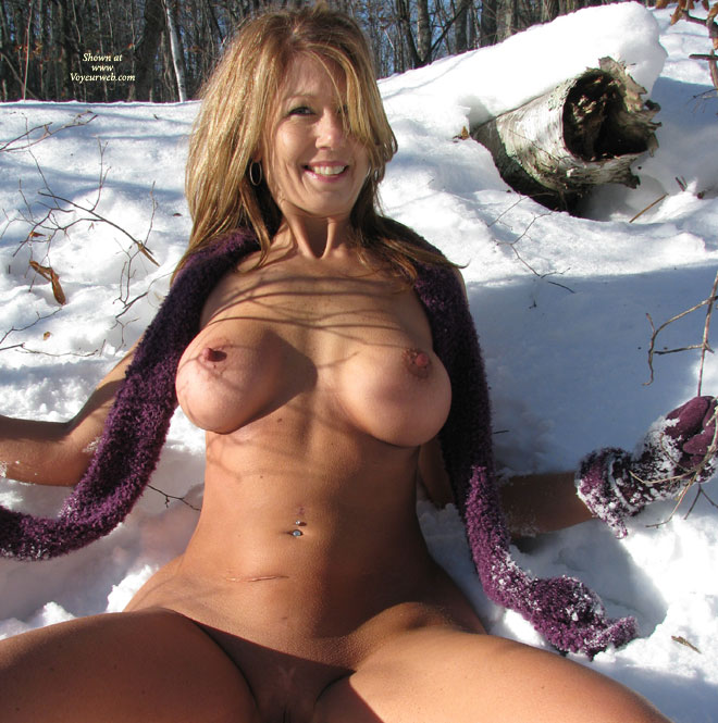 Pic #1 - *SN Naughtybuny In The Snow , We Were In The Northwoods And I Was Feeling A Little Naughty! It Was Such A Beautiful Sunny Day So We Decided To Take Some Pictures On The Side Of The Road. It Was 17 Degrees That Day. I Wanted To Do Some Nice Hot Pictures For You All On Such A Cold Day. I Hope You Enjoy Them As Much As I Enjoyed Being Out There Freezing My Butt!  After Getting Back Into The Truck It Definitely Got Hotter!