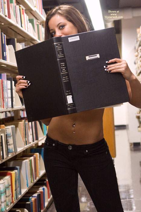 Pic #3 Leanna In College Library