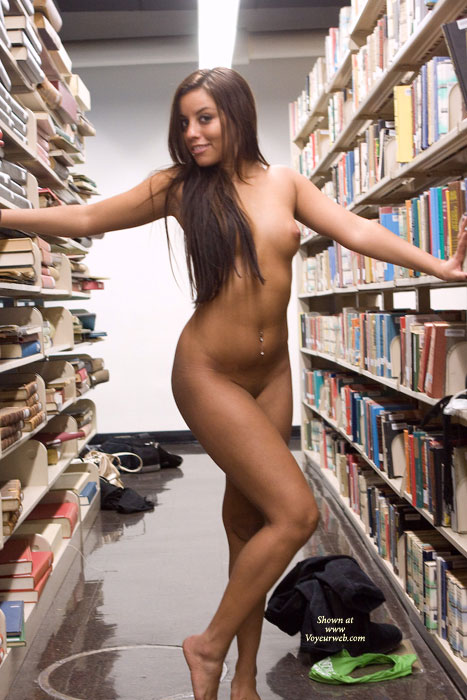 Pic #7 Leanna In College Library