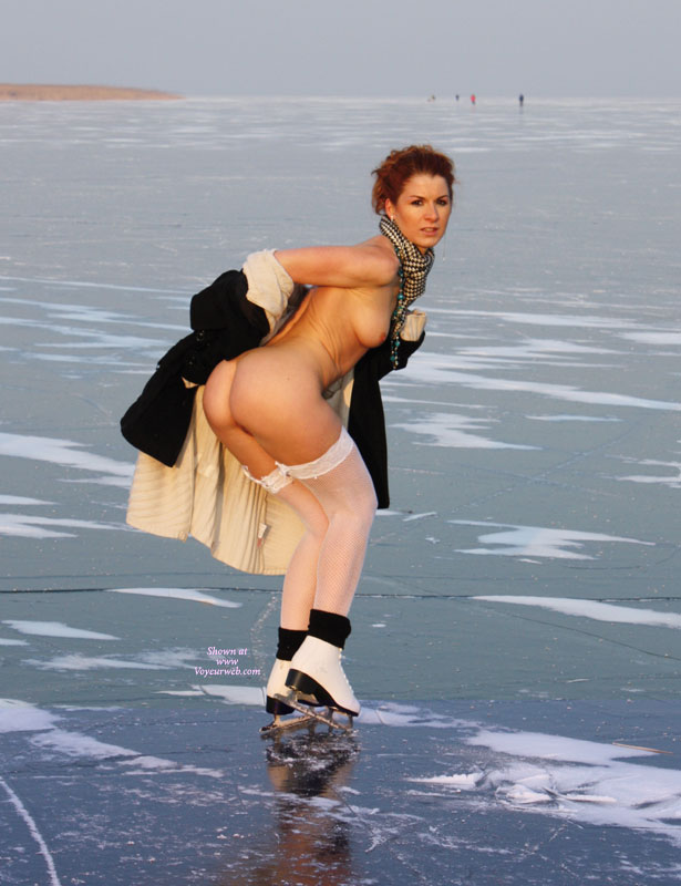 female ice skating naked nude