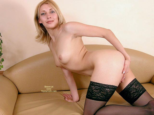 Pic #6 - Naked Hottie In Black Stockings