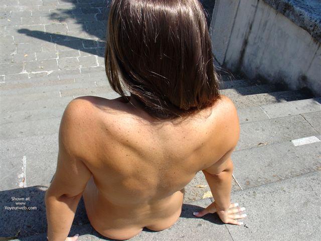 Pic #6 - Long Hair Lady Walks Nude Under The Sun