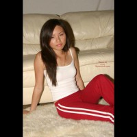 Asian Christine'S Candy Cane Panties