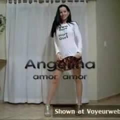 Angelina's Erotic Dance - Brunette, Striptease