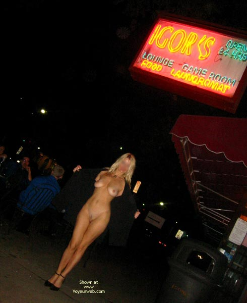 Pic #1 - Nude Woman Flashing On Public Street - Long Hair , Nude Woman Flashing On Public Street, Tall Blond, Long Blond Hair, Kate S Eip, Kates New Business, Black Coat Flashing, Awning Apples, Diagonal Camera Angle, Legs Together