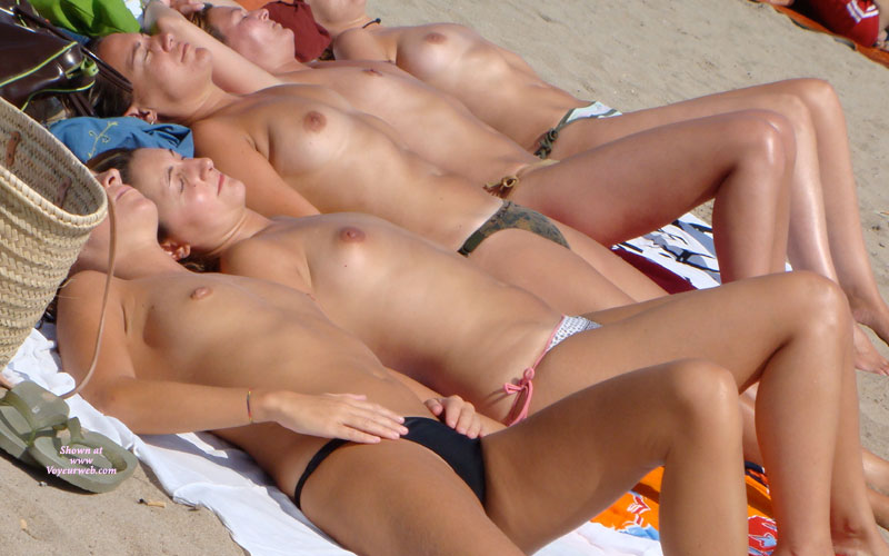 Sexy Girls On The Beach - Topless Beach, Topless, Beach Tits, Beach Voyeur, Sexy Boobs , Tit Display, On Beach, 5 Topless Beach Maidens In A Row, Firm Figured, Topless Sunbather, Multi Sized Tits, Candid Beach Shot, 5 Topless Tans, 4 Visible Lips, 3 Stretched Out Legs, Etc..., 5 Laying Topless Sunbathing, Group Shot, 5 Sets Of Nice Titties