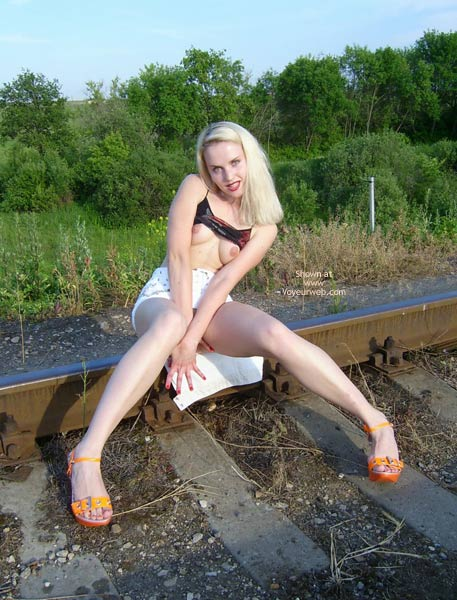 Pic #2 - Railroad Pussy Flasher