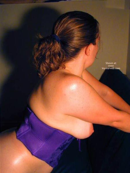 Pic #3 - Oh Wife Bares Boobs in Purple Corset