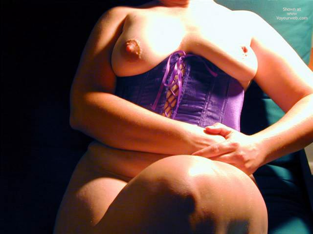 Pic #7 - Oh Wife Bares Boobs in Purple Corset