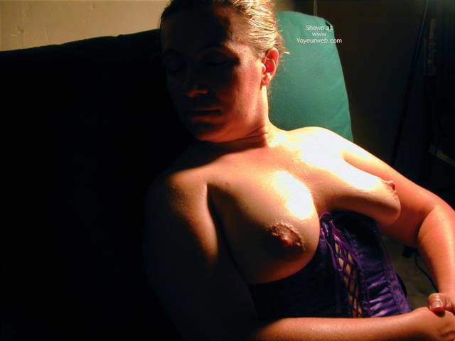 Pic #8 - Oh Wife Bares Boobs in Purple Corset