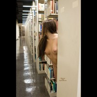 Stripping In Library - Firm Tits, Naked Girl, Nude Amateur
