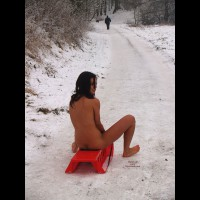 Sleigh Fun , Try A Cold Experience ... Naked On A Sleigh !