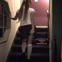 Brittney'S Ass On The Stairs