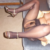 Sexy In Black Pantyhose