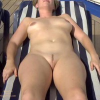 Sunbathing Nude Girl - Landing Strip