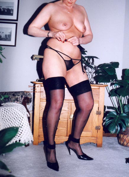 Pic #3 - Mrs.Cleaver Stripping #2