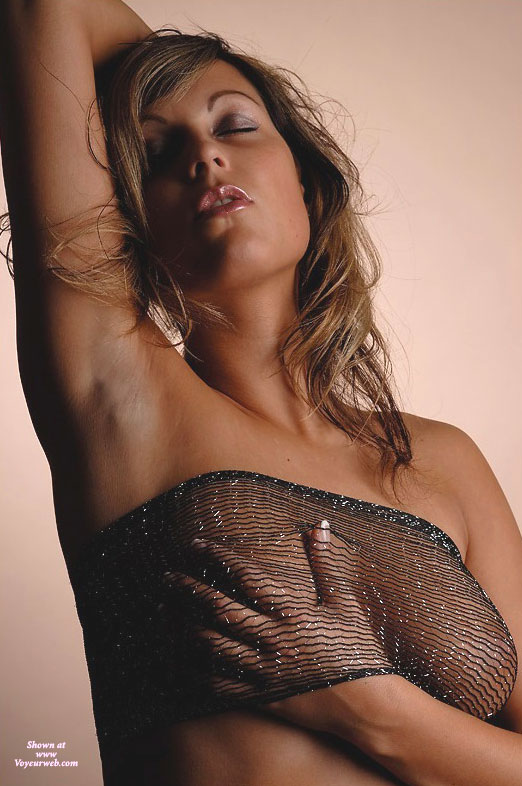 Pic #1 - Sexy Armpits , Standing Arm Up Other Hand Under See-through Top, Eyeshadow, Arm Up, Sensual Daydream, Carressing Breast, Hand Under Top, A Sensual Moment, Hand On Boob, Eyes Closed, Standing Hand Under Bop, Hand On Tit, A Touch Trough Mesh, Hand On Breast, Transparent